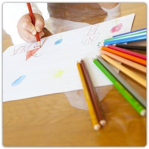 Tischfolie, Schutzfolie mit Batt und Stiften