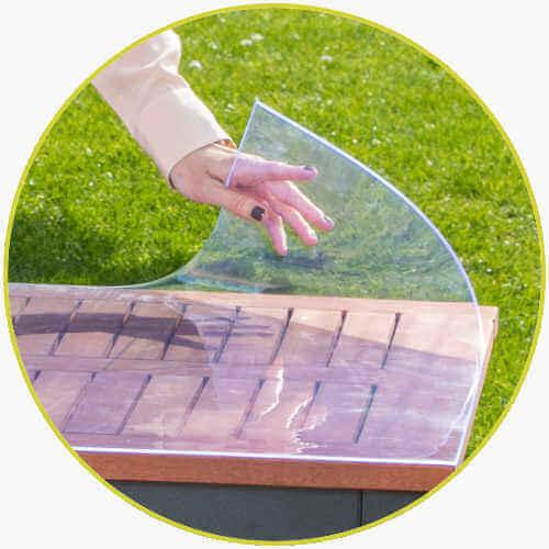 Tischdecke durchsichtig Tisch Garten