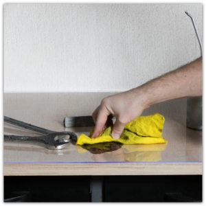 Werkbankschutz, abwaschbar