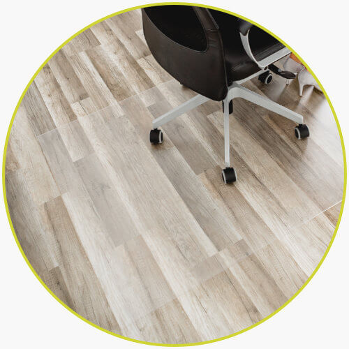 Bodenschutzmatte transparent Bürostuhl