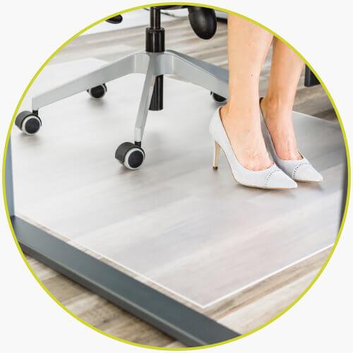 Bodenschutzmatte maßgeschnitten Büro Bürostuhl