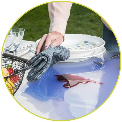 Tischdecke abwaschbar flecken Schutz