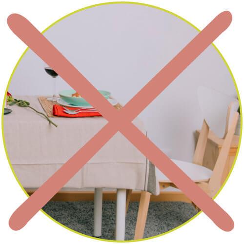 passgenau Tischdecke kein Überhang