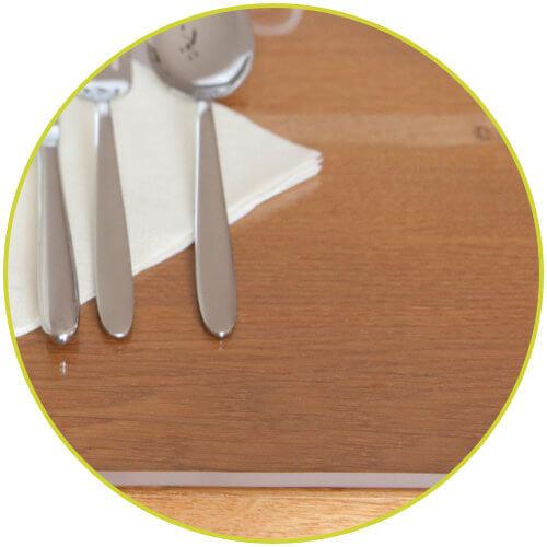 Tischdecke Schutz Geschirr Tisch
