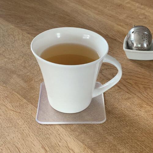Tee Untersetzer in abgerundet