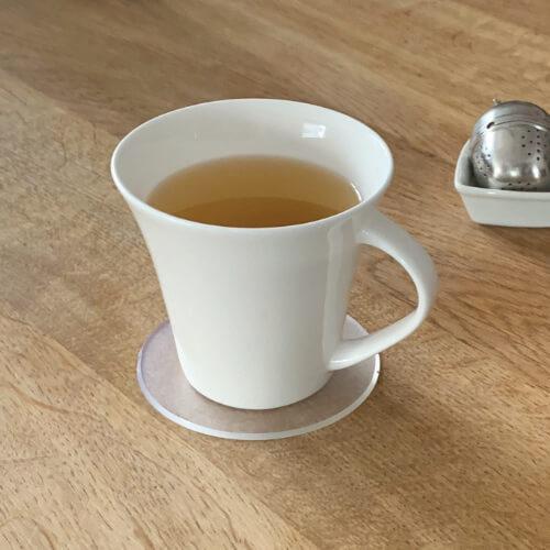 Tee Untersetzer in rund
