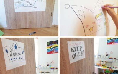 Whiteboard Folie für das Kinderzimmer